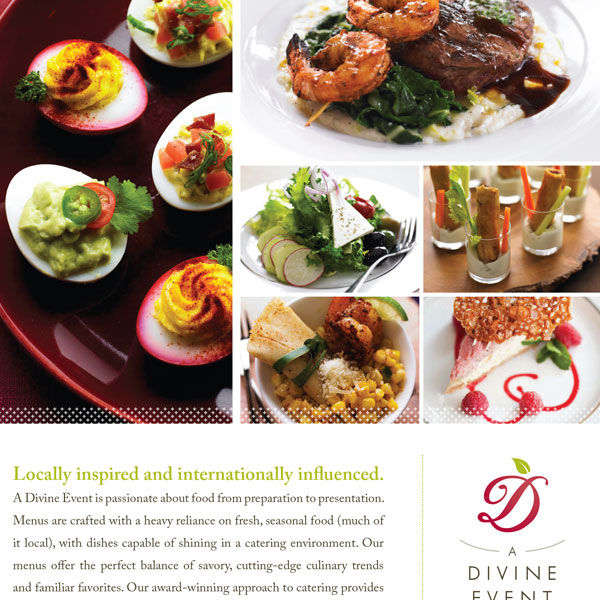 Caterer print advertisement