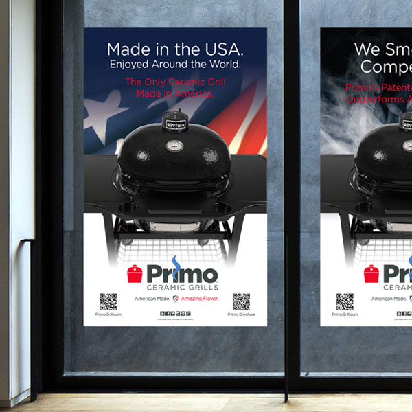 Promotional window clings